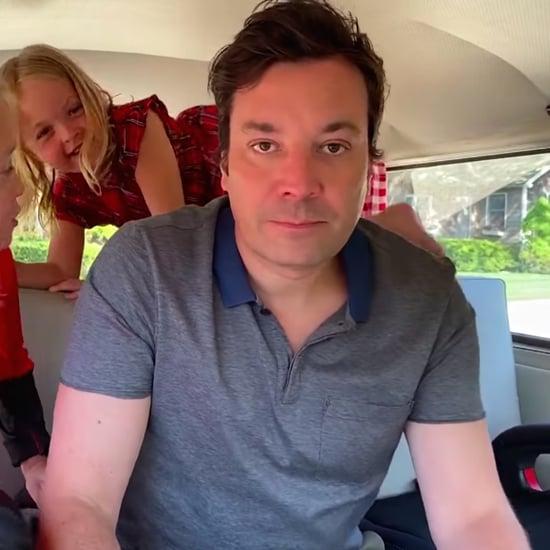 Jimmy Fallon's Chaotic Monologue With His Daughters in a Van
