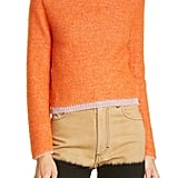 Eckhaus Latta Clavicle Cutout Crop Sweater