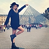 Ciara took sightseeing photos while visiting Paris. Source: Instagram user ciara