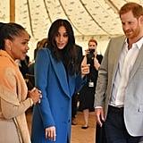 Prince Harry Taking Samosas at Meghan Markle Cookbook Event
