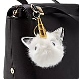 Forever 21 Faux Fur Unicorn Keychain