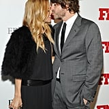 Rachel Zoe got a kiss on the nose from her husband, Rodger Berman, at an NYC fashion event in November 2011.