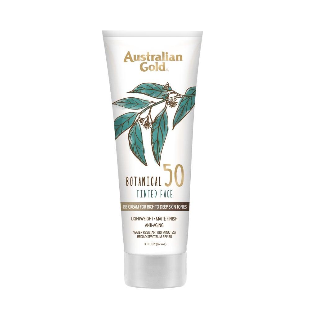 Australian Gold Botanical SPF 50 Tinted Face Sunscreen Lotion — Rich to Deep