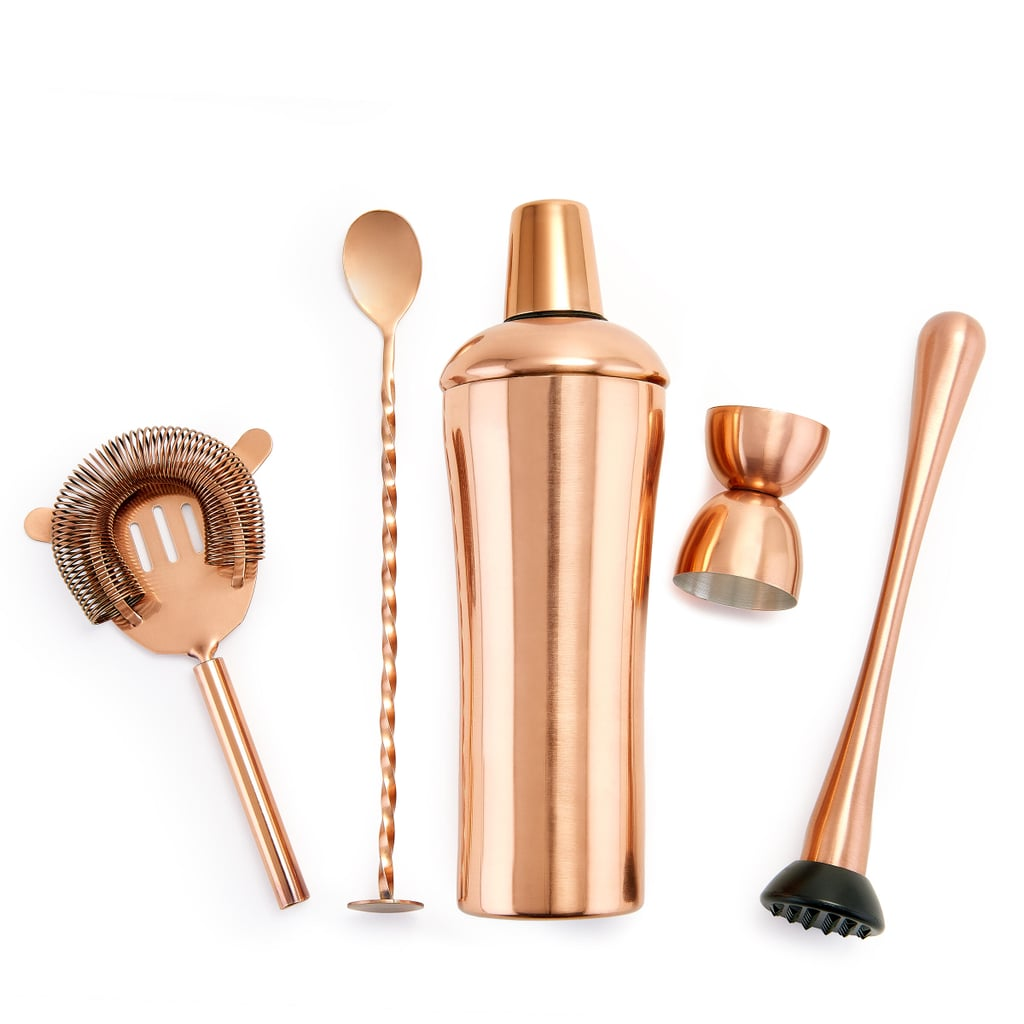 Old Dutch DuraCopper 5-Piece Cocktail Shaker Set