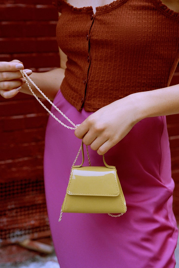 Super Mini Trapezoid Crossbody Bag