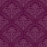 WallsByMe Peel and Stick Purple Damask Basic Fabric Removable Wallpaper