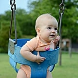 First time in a swing.