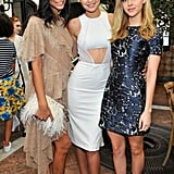 Chanel Iman, Gigi Hadid, and Nicola Peltz