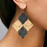 Apache Rose London Swatch Statement Earrings