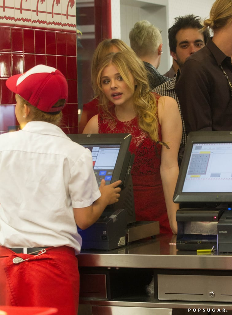 Chloë Moretz followed up her Carrie red carpet premiere with a stop at In-N-Out Burger in LA.