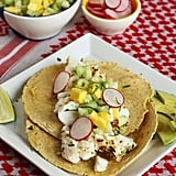 Grilled Fish Tacos With Mango-Cucumber-Mint Salsa