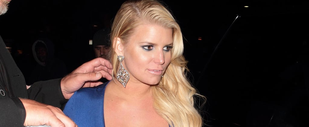 Jessica Simpson Flaunts Major Cleavage During a Sexy Night Out With Her Husband
