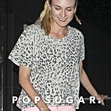 Diane Kruger was all smiles leaving dinner at Katsuya.