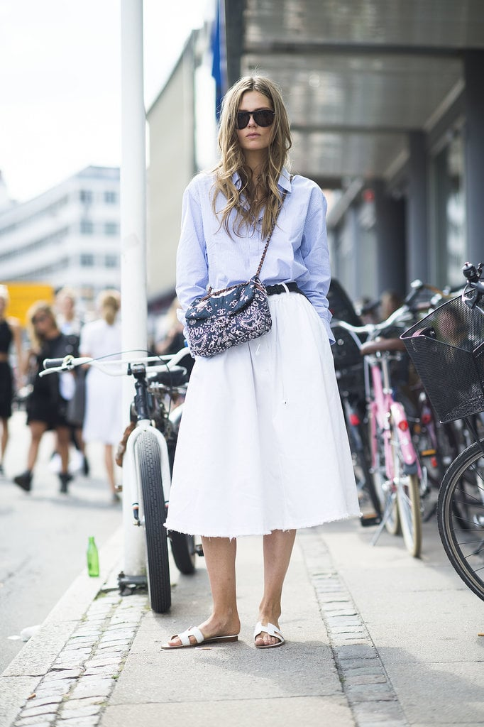 They Lent Casual Flair To Full Midi Skirts How To Wear