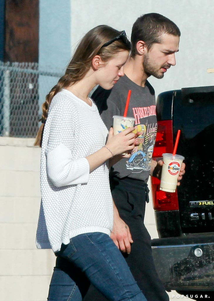 Shia LaBeouf Spends His Day Shopping . . . and Skywriting