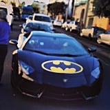The Batmobile cruised down the street.  Source: Instagram user stephpet
