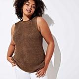Loft Plus Ribbed Sweater Shell