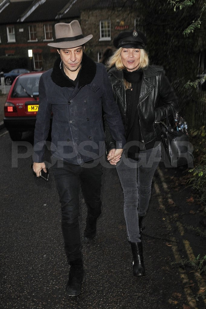 Kate Moss and husband Jamie Hince headed to their London home.
