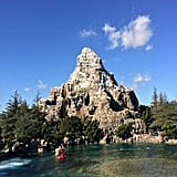It features the iconic Matterhorn Mountain with the Matterhorn Bobsleds ride.