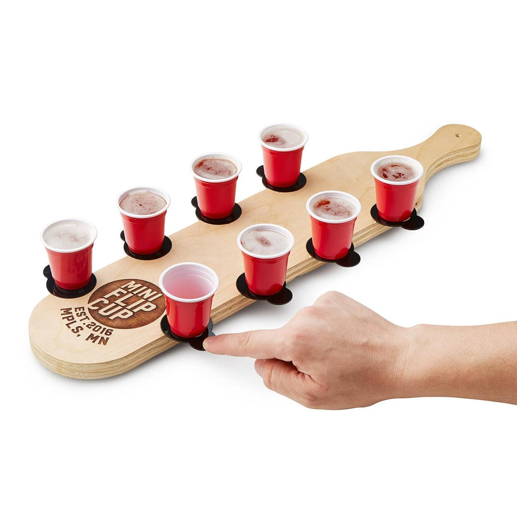This Mini Flip-Cup Game Comes With Little Red Solo Cups