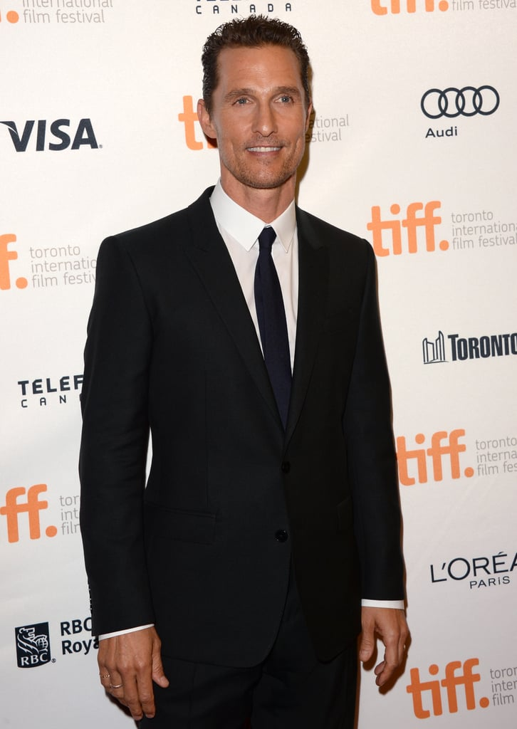 Matthew McConaughey posed on the red carpet.