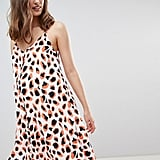Glamorous Bloom Button Down Cami Dress in Leopard