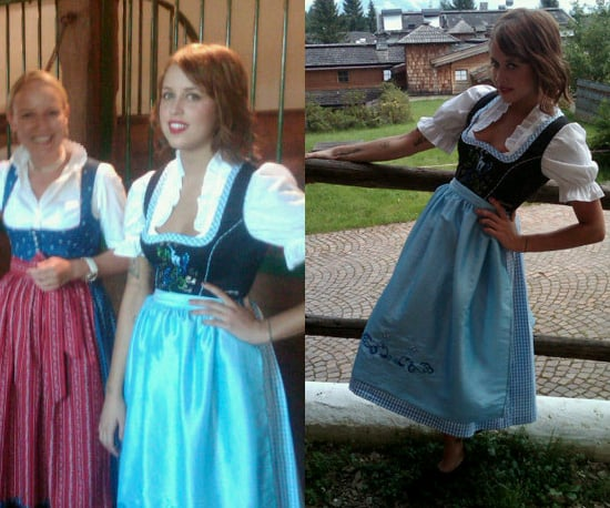 Photos of Peaches Geldof in Traditional Dirndl