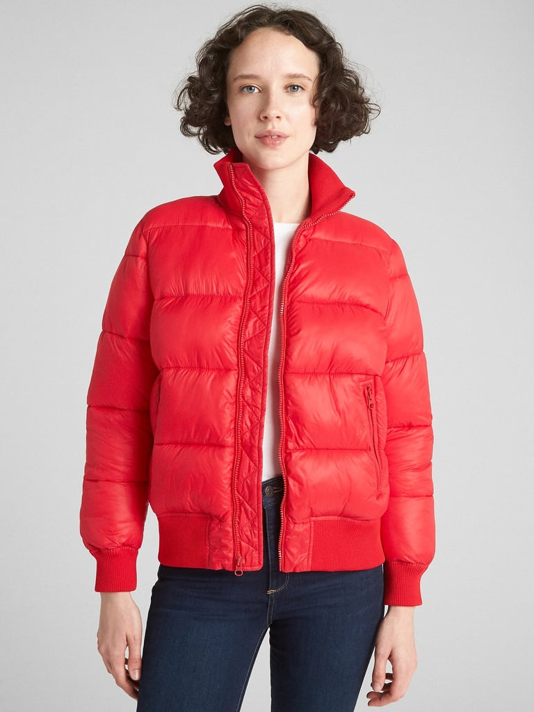 Cold Control Puffer Bomber Jacket Best Gap And Gap Kids Black