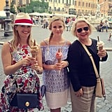 """The best way to enjoy #gelato??? #ThreeGenerations"""