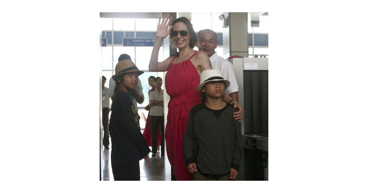 angelina jolie maddox and pax at vietnam airport pictures popsugar celebrity. Black Bedroom Furniture Sets. Home Design Ideas