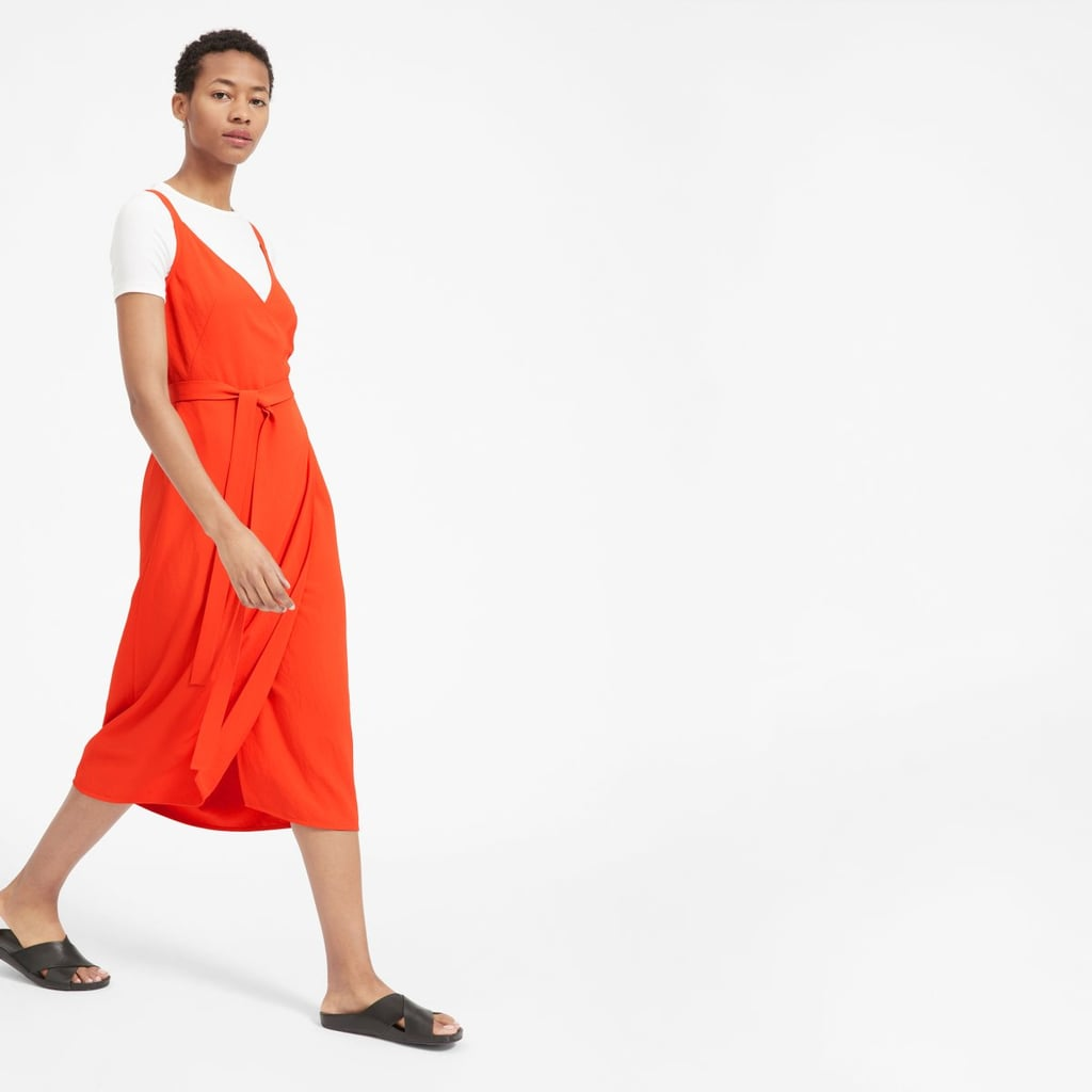 Everlane Japanese GoWeave Tank Wrap Dress
