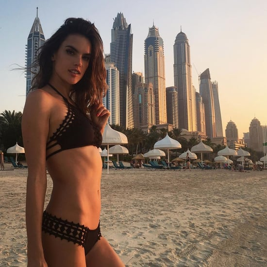 Alessandra Ambrosio Wearing a Bikini in Dubai 2016 November