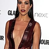 Kourtney Kardashian with a Center Part