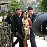 Bre felt perfectly comfortable around the male models.  Photo courtesy of The CW