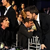 Ben Affleck leaned in to chat with Christian Bale during the show.