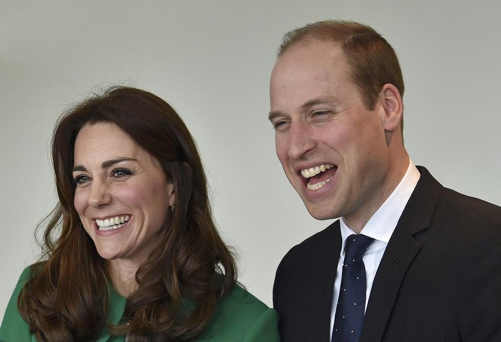 Duchess of Cambridge Prince William at St. Thomas Hospital