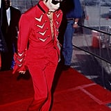 Walking the American Music Awards red carpet in 1995.