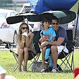 Is there such a thing as a step-soccer mom? That's what we'd call LeAnn Rimes whens she joined husband Eddie Cibrian to cheer on his son Jake at his soccer game last Spring.