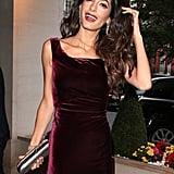 Amal Clooney's Red Velvet Gown