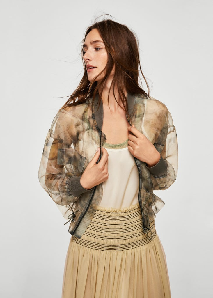 Printed Sheer Jacket
