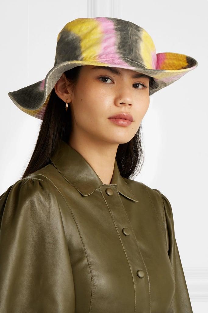 Ganni Tie-Dyed Cotton Bucket Hat