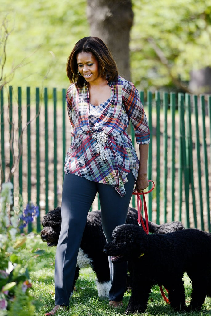 And she led the dogs into the mix.