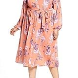 Lost Ink Floral Midi Dress