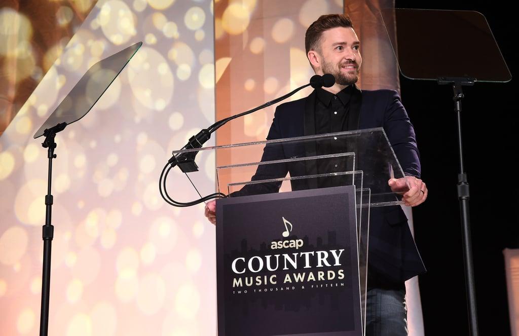 Justin Timberlake at 2015 ASCAP Country Music Awards
