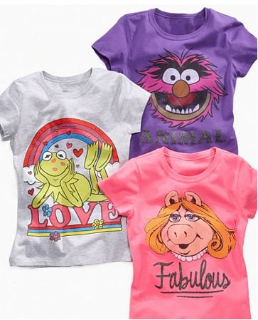 Awake Kids Tee, Girls Muppets Shirt