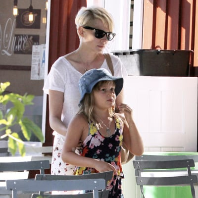 Michelle Williams, Jason Segel and Matilda Ledger Get Ice-Cream in LA