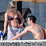 They tanned their toned bodies together in Cabo in January 2013.