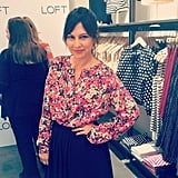 Rachel Bilson's stylist, Nicole Chavez, took a moment to pose in her LOFT top.
