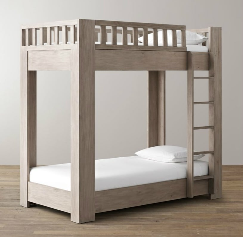 Rh baby child callum bunk bed modern bunk beds for for Modern kids bunk beds
