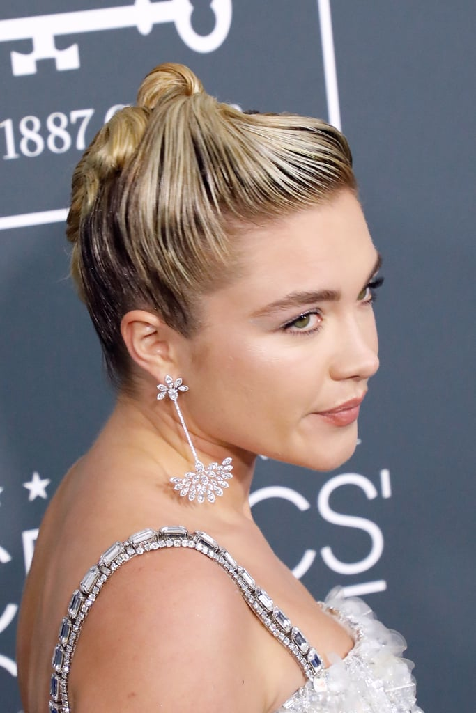 Florence Pugh's Swirly Updo at the 2020 Critics' Choice Awards